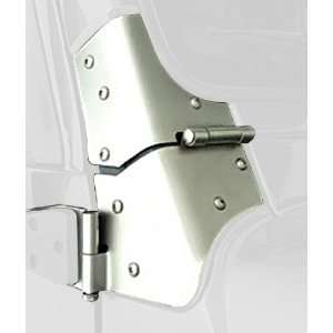 Rugged Ridge 11185.03 Satin Stainless Windshield Hinge