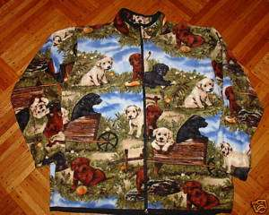 POLAR FLEECE JACKET DOG LAB LABRADOR PUPPIES WARM XXL