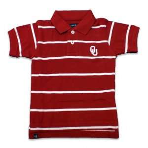 Cardinal/White Thin Striped Pique Polo Shirt