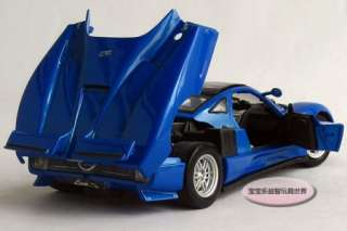 New Pagani ZONDA C12 124 Alloy Diecast Model Car With Box Blue B116a
