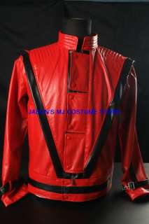 UPGRADEDNEW MICHAEL JACKSON MTV RED THRILLER JACKET