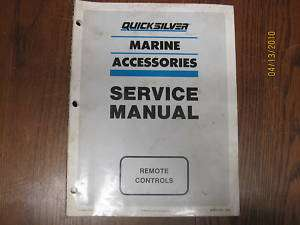 MERCURY QUICKSILVER SERVICE MANUAL REMOTE CONTROLS