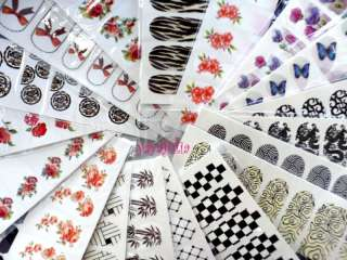 Nail Art Decal Sticker Water Slide Tattoo Transfer W1