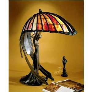Dale Tiffany Flying Lady Sculpted Tiffany Lamp