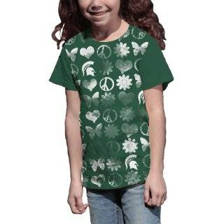 NCAA Michigan State Spartans Girls Hippy Chic Crew Tee Shirt