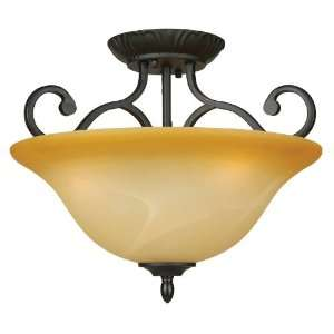 Royal Arches Tuscan Three Light Down Lighting Semi Flush Ceiling