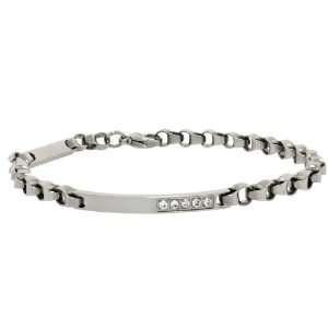 Surgical Steel Cable Chain Link ID Bracelet 8.5 Inches For Men