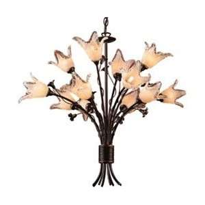 Lighting Aged Bronze Fioritura Chandeliers Mid Sized