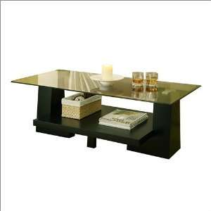 Coffee Table Enitial Lab Horizon Modern Glass Top Coffee