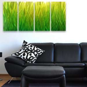 Green Labyrinth Modern Abstract Metal Wall Art Sculpture Painting