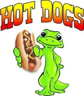 Hot Dogs Decal 14 Food Concession Business Sign