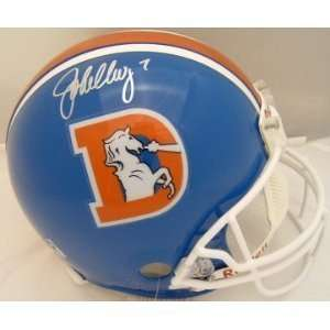John Elway Hand Signed Autographed Denver Broncos Throwback Full Size