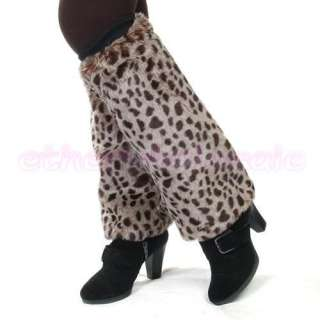 Women Faux Fur Leg Warmers Leggings Boots Cover Muffs
