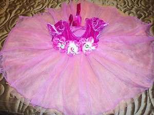 Little Princess Tutu Tulle Chiffon Leotard Party Dress 3 months