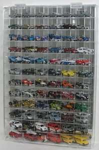 64 Diecast Car Display Case   holds 72 Cars   Side Angle view