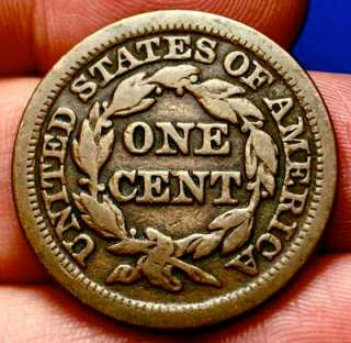OLD US COINS 1847 RARE PRE CIVIL WAR LARGE CENT PENNY