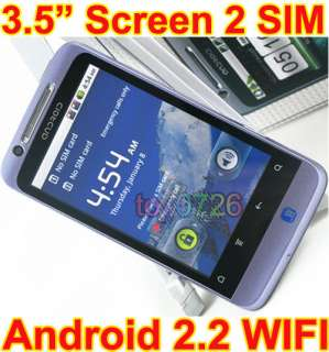 New Quad Band Unlocked Dual SIM 3.5 Android 2.2 WIFI TV Smart cell