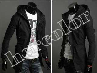 Men Casual Top Designed Slim Fit hoody Jacket Coat 3Color 4size ZL
