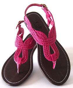 Girls Kids Braided Sandals Black Pink White Flip Flops Beach Sandals