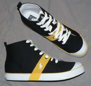 Polo Ralph Lauren Conrad Black shoes mens canvas yellow