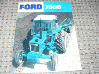 Ford 7600 Tractor Dealers Brochure