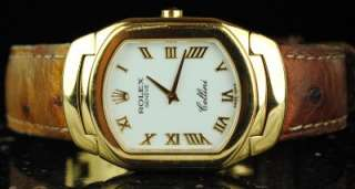 Mens Rolex 6633/8 Yellow Gold Cellini X Serial 1990 WHITE ROMAN DIAL