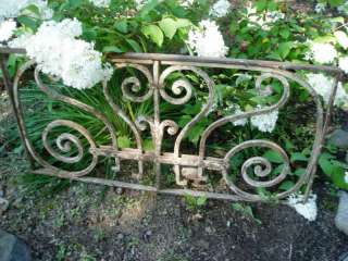 GORGEOUS ART NOUVEAU ANTIQUE FRENCH IRON PANEL