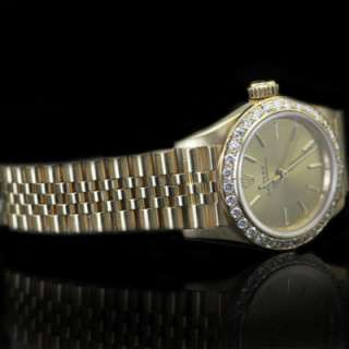 LADIES ROLEX OYSTER PERPETUAL NO DATE 18KT YELLOW GOLD