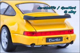 Welly 124 Porsche 964 Turbo Diecast Model Car YELLOW