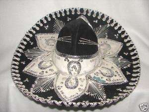 Black Pigalle Sombero Mexican Hat ~ horse shoe design
