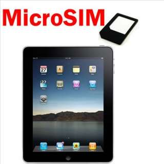 MicroSIM Micro SIM card adapter for iPhone 4 iPad 2 3G
