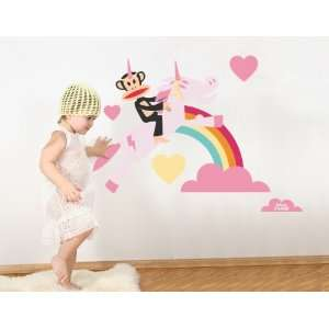 Paul Frank Julius Unicorn Love Over Rainbow Wall Sticker Decal