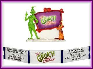 How The Grinch Stole Christmas Dept 56 Snow Village SV