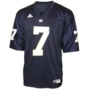 Adidas Notre Dame Fighting Irish #7 Navy Replica Football