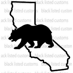 California State Bear BLACK Vinyl Decal Sticker CUSTOM