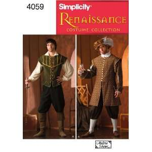 Simplicity Sewing Pattern 4059 Men Costumes, A (XS S M L