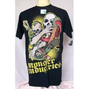 Rock Punk Biker Metal Skull Death Monster T Shirt L