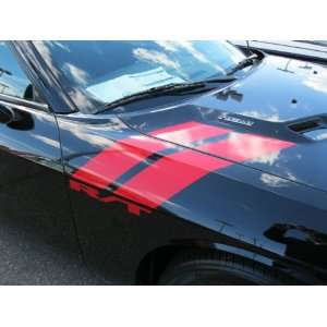 DODGE CHALLENGER APPLIQUE DECAL KIT BODY STRIPES WAR PAINT RHOMBUS RED