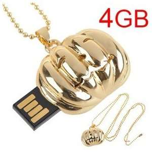 USB Flash Memory Flash Drive U Disk with Chain (Golden) Electronics