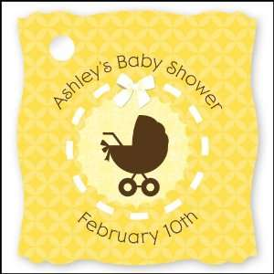 20 Personalized Baby Shower Die Cut Card Stock Tags Toys & Games
