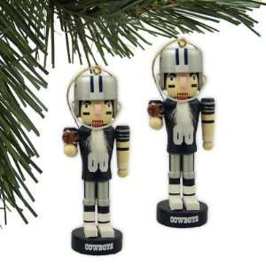 COWBOYS OFFICIAL NUTCRACKER CHRISTMAS ORNAMENT SET