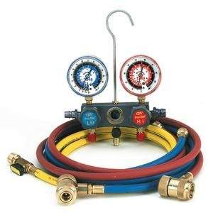 Pro Set Aluminum Block Manifold Gauge Set with Hoses
