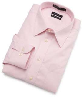 Nautica Mens Solid Non Iron Dress Shirt Clothing