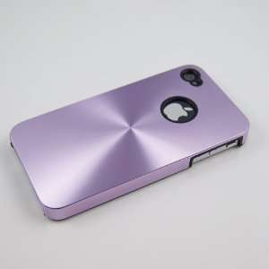 Light Purple Metal Series Case for iphone 4 & 4S Provided