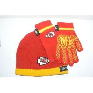 NFL Kansas City Chiefs Child Size Beanie and Gloves Set