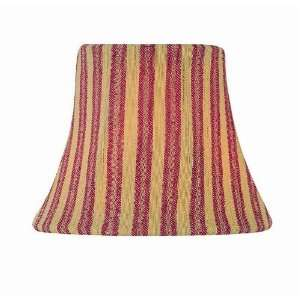 CH5193 6 6 Inch Lamp Shade, Red with Gold Stripe