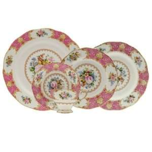 Royal Albert Lady Carlyle 5 Piece Place Setting, Service