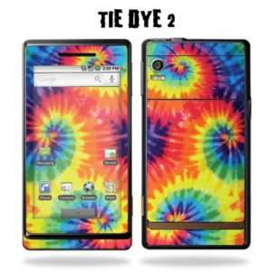com Protective Vinyl Skin Decal Sticker for Motorola Droid   Tie Dye