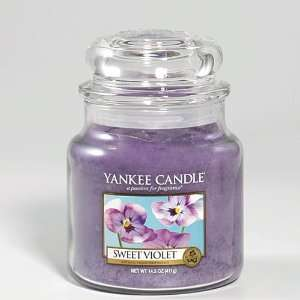 Yankee Candle, SWEET VIOLET, 14.5 oz, Housewarming Scented Jar