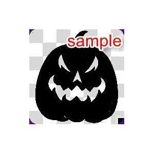 RANDOM SCARY HALLOWEEN PUMPKIN 11 WHITE VINYL DECAL